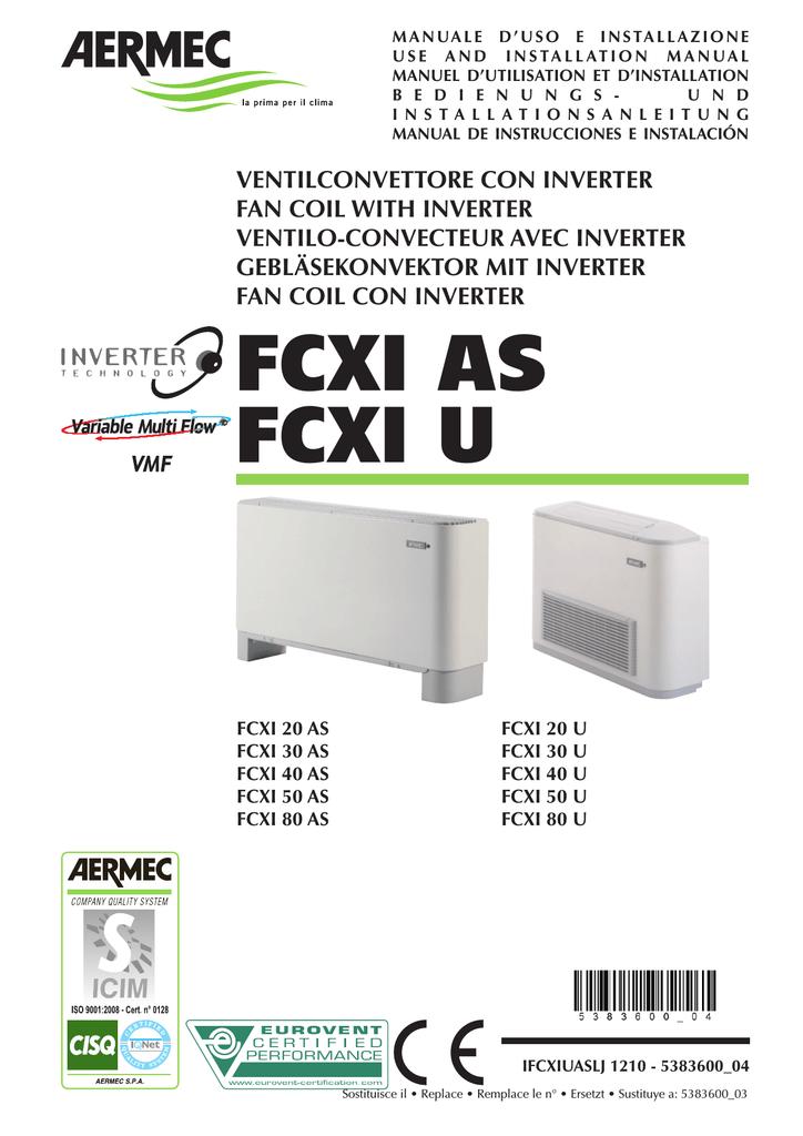 ventilo-convecteurs//fanCoil AERMEC omnia UL 36/P