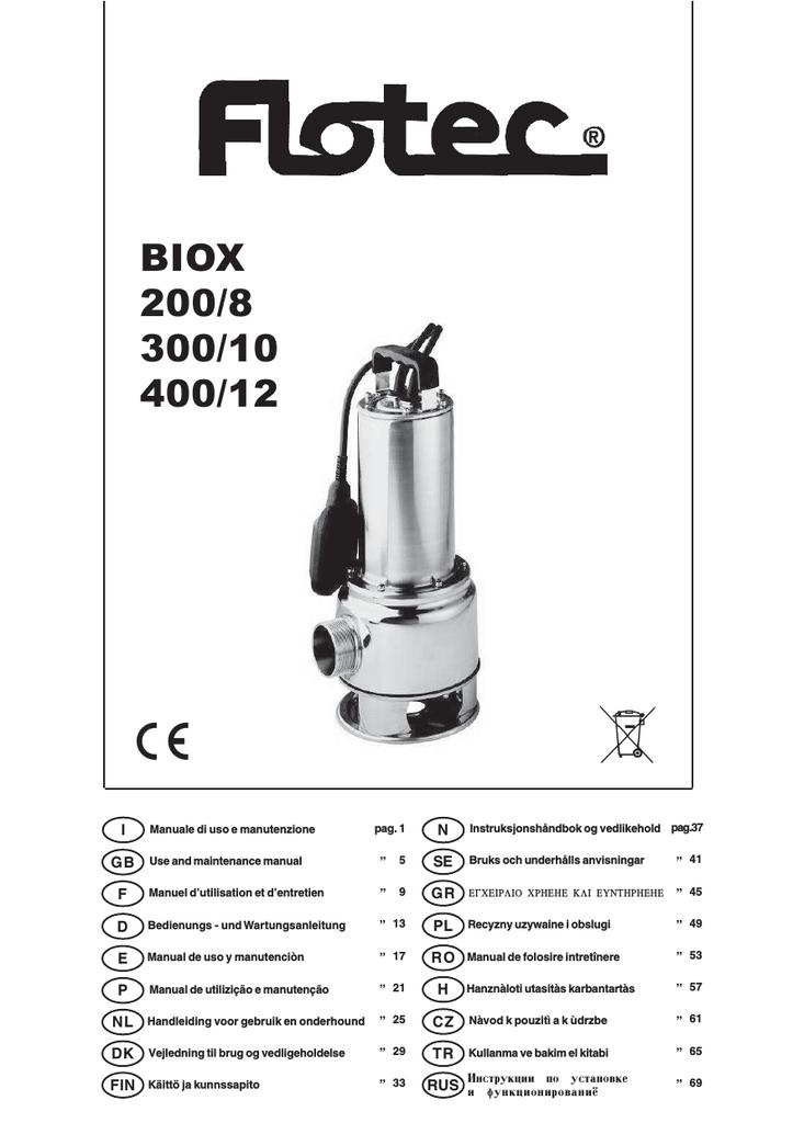 Biox 200 8 300 10 400 12 Manualzz