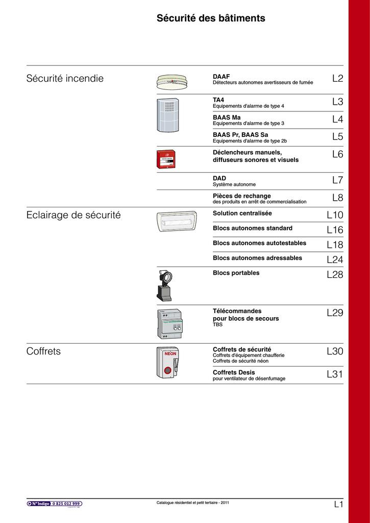 Compatibilit/é 50/blocs Schneider Electric 15855//éclairage de s/écurit/é /à distance en Les blocs /240/V 220/