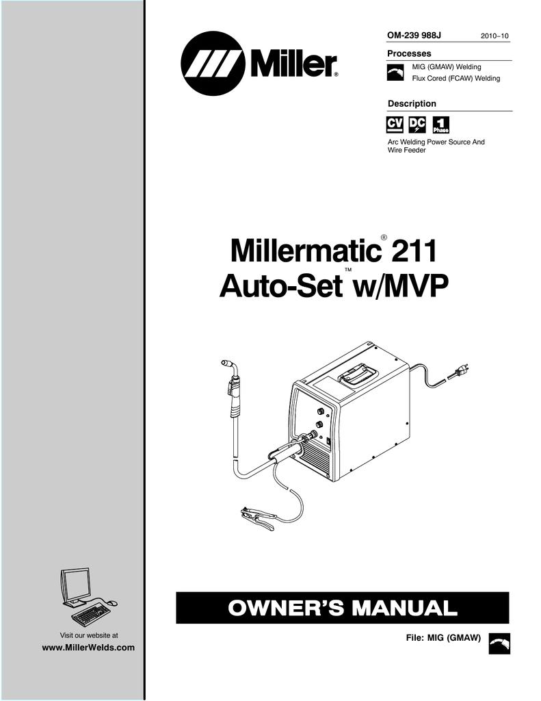 Miller Ma422374n Owner S Manual Manualzz
