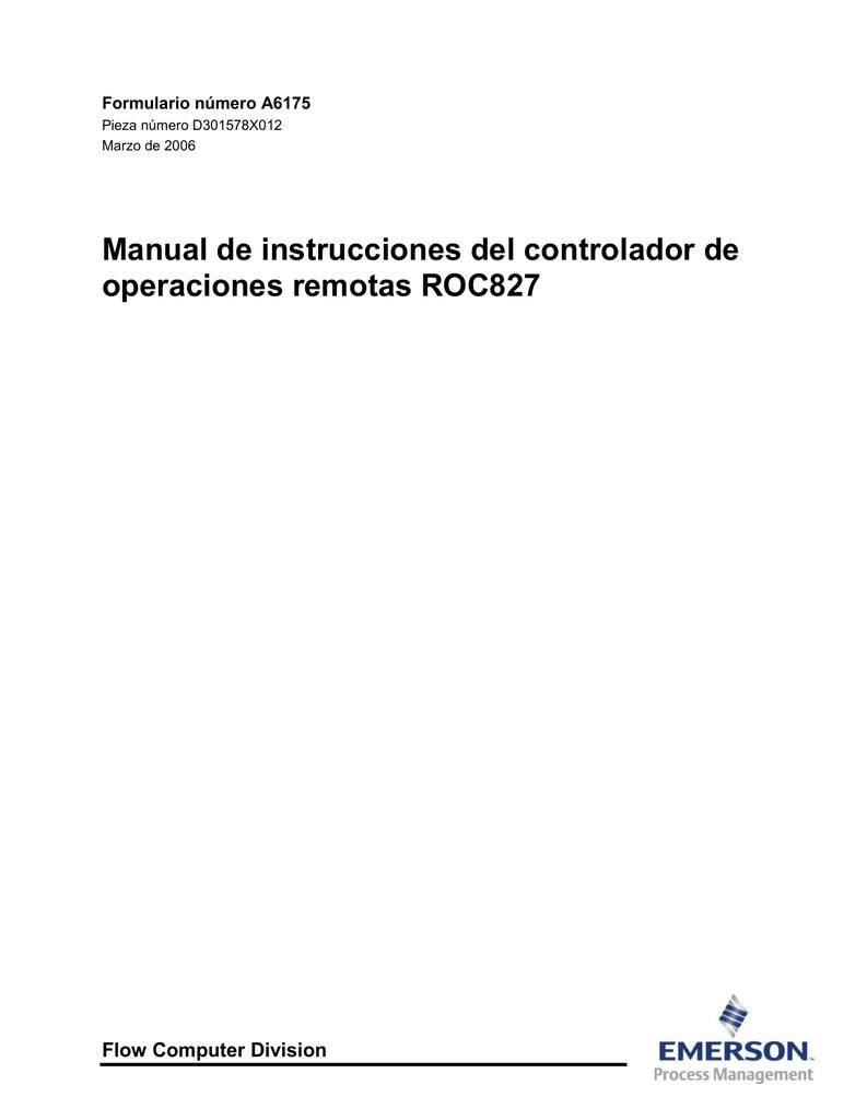 Manual de instrucciones del controlador de operaciones remotas ...