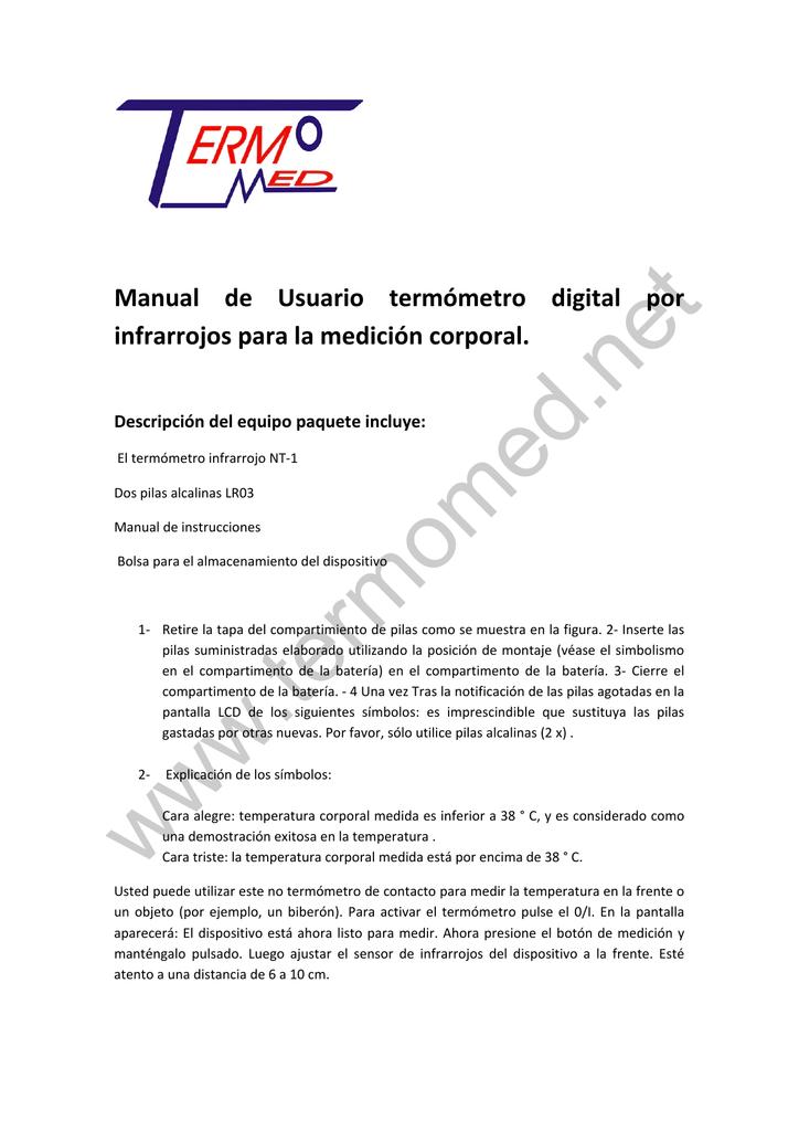 Manual De Usuario Termometro Digital Por Manualzz Qui sotto puoi visualizzare e scaricare gratuitamente il manuale in formato pdf. manual de usuario termometro digital