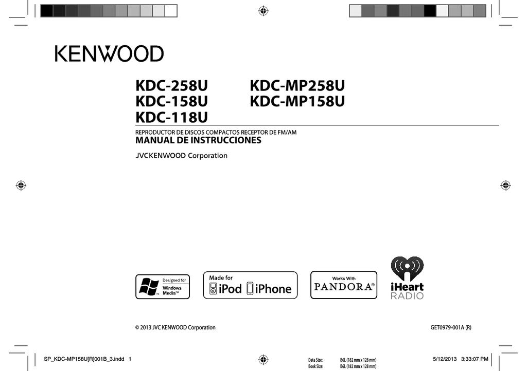 wiring connection kdc 258u kdc 158u kdc 118u kdc mp258u kdc mp158u  kenwood kdc 258u wiring diagram #13