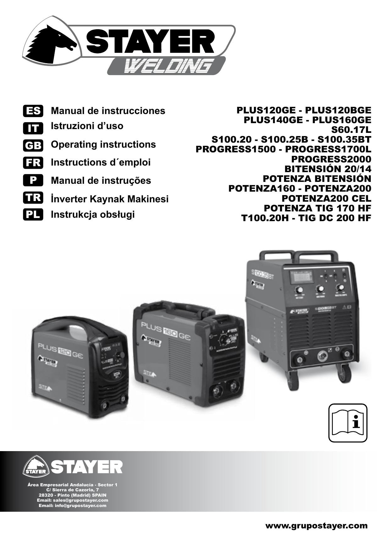 Stayer Welding/ /Power Tig 170/HF Inverter Tig Welding 170/ 60/% to 4/mm 5/kg Kva5