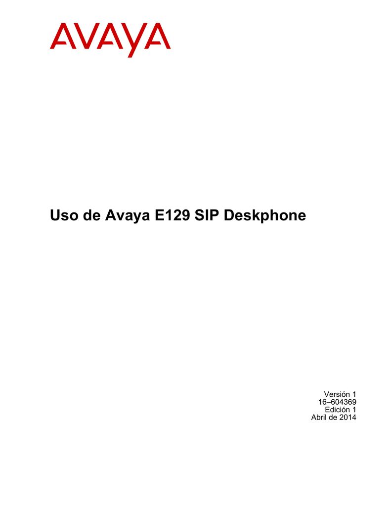 Guía de Uso E129 SIP Deskphone | manualzz.com