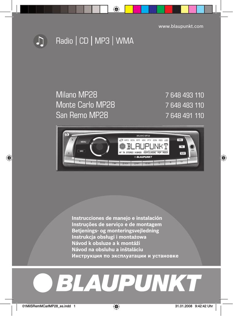 Blaupunkt Valencia MP36 sólo panel extraíble
