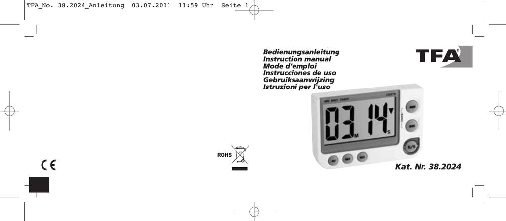 Cucina TFA Timer e cronometro digitale