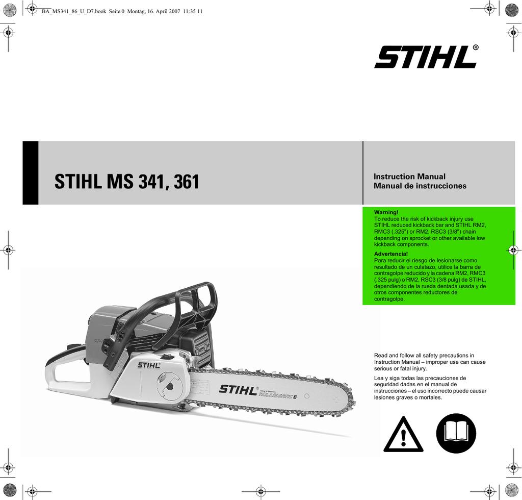 Cigüeñales carcasa adecuado para Stihl ms341 ms361 MS 341 361-crankcase