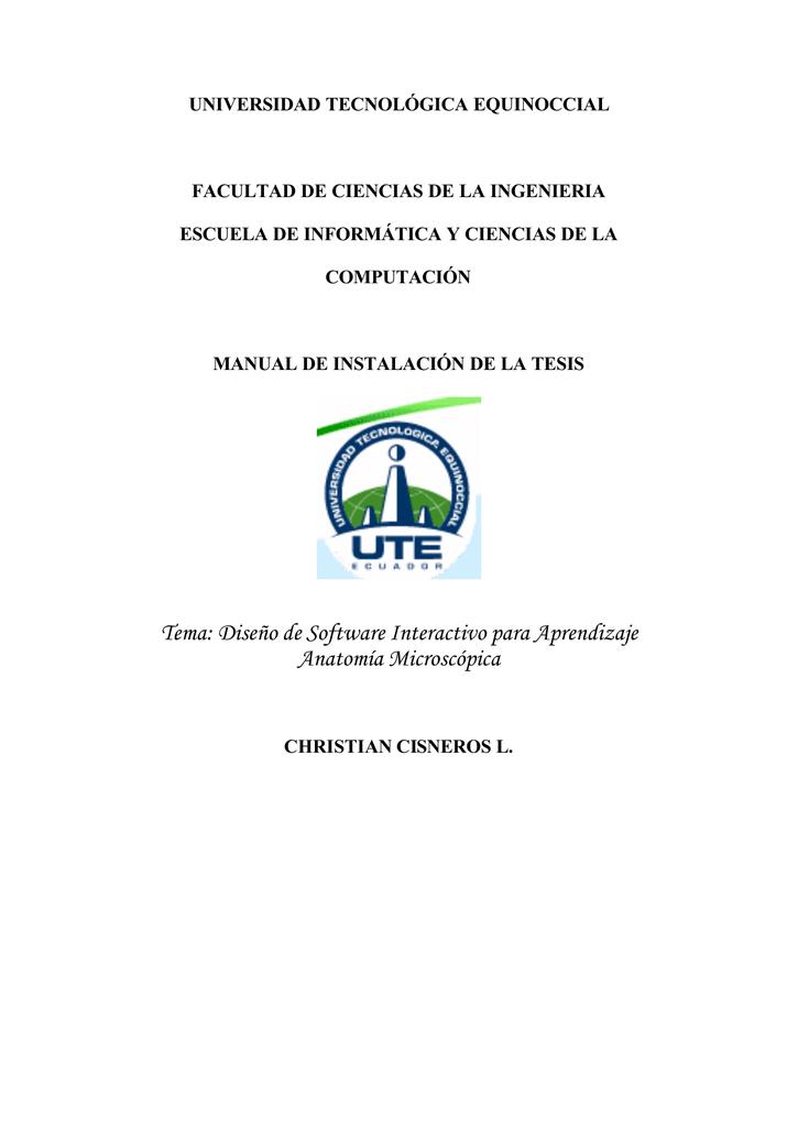 Tema: Diseño de Software Interactivo para Aprendizaje Anatomía ...