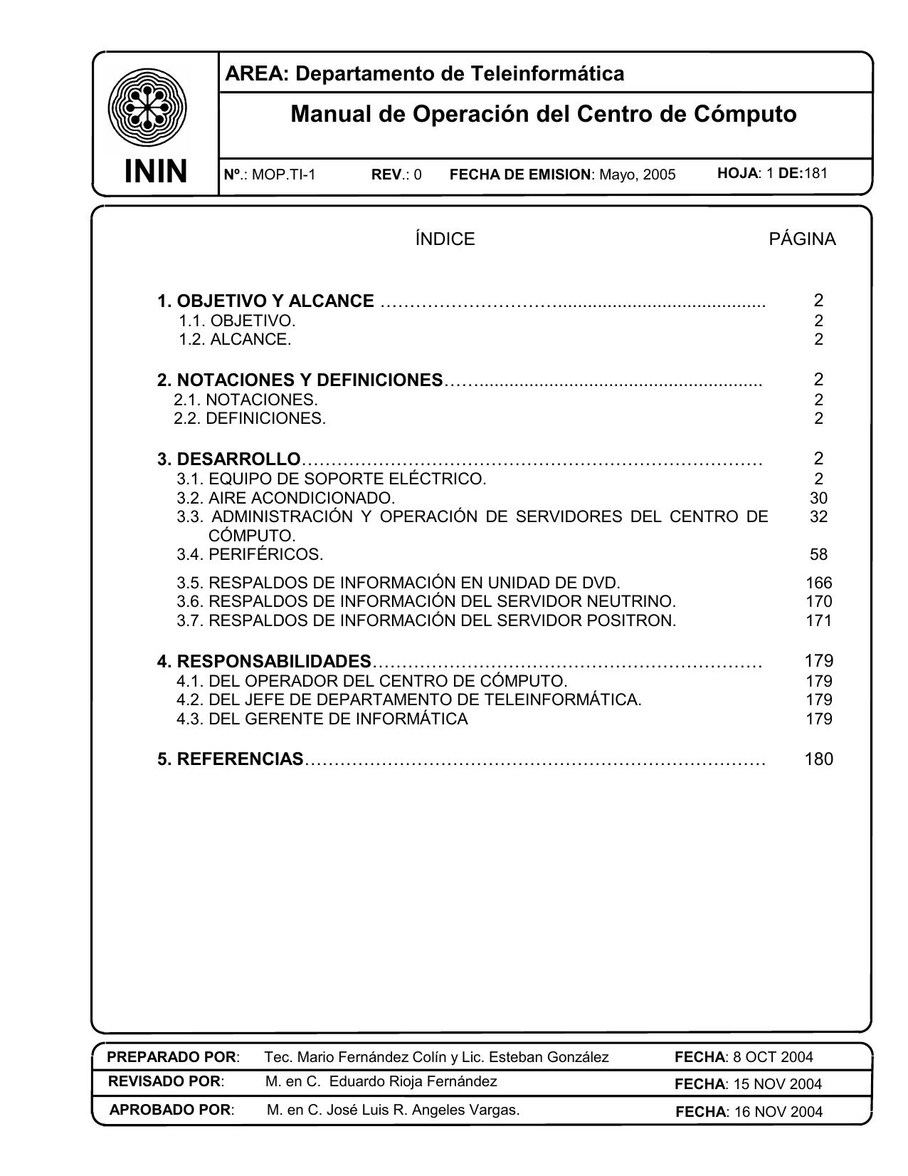 Manual de Operación del Centro de Cómputo | manualzz.com
