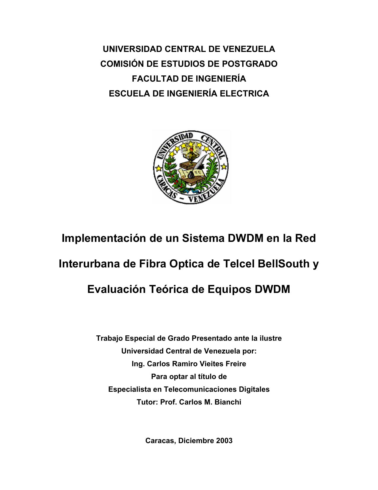 Implementación y Evaluación de un Sistema DWDM | manualzz.com
