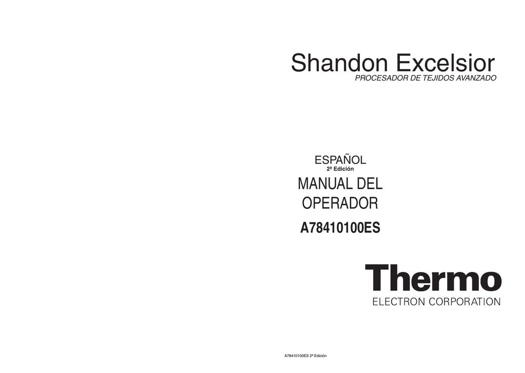Excelsior Manual de Operación - Español | manualzz.com