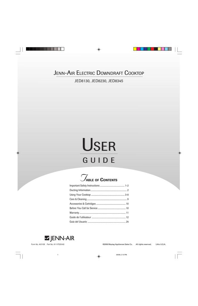 USER USER | manualzz.com Jea Adb Jenn Air Wiring Diagram on
