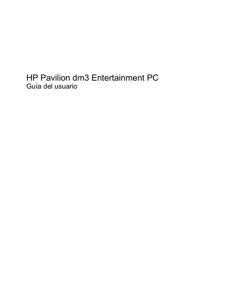 HP Pavilion dm3 Entertainment PC | manualzz.com