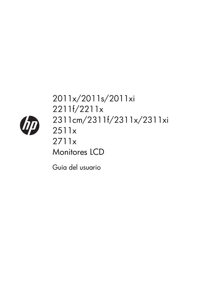HP 2311x 23-inch Diagonal LED Monitor Manual de usuario | Manualzz