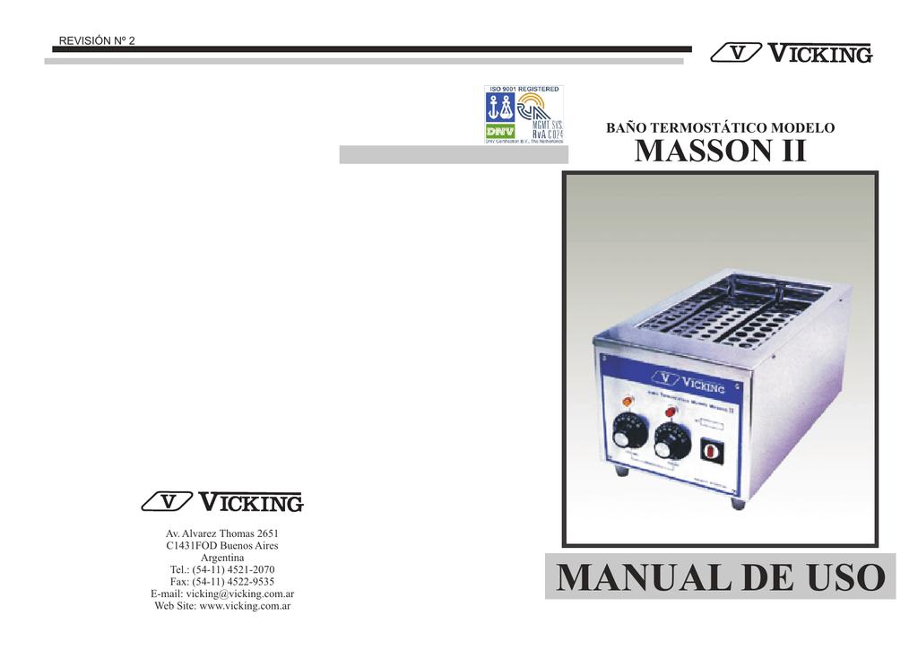 Manual De Uso Masson Ii R2 Cdr Manualzz