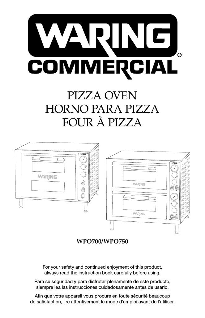 Waring WPO700 Commercial Double Deck Single Door Pizza Oven 1 Year Full Warranty