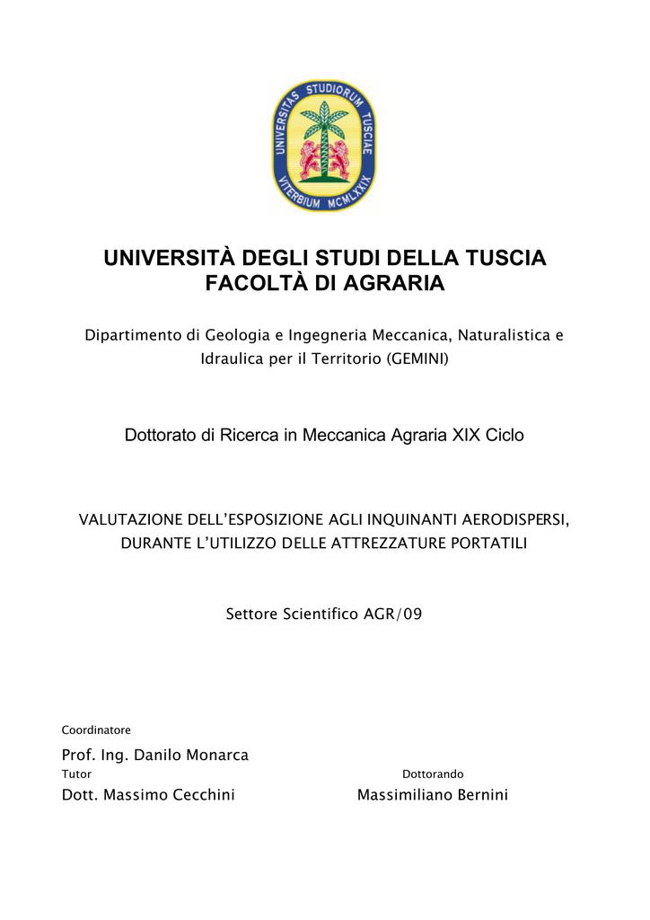 0d48e3b00c università degli studi della tuscia facoltà di agraria | manualzz.com