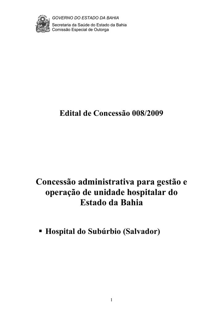 0e835f641 Edital de Concessão 008 2009 - Sefaz-BA