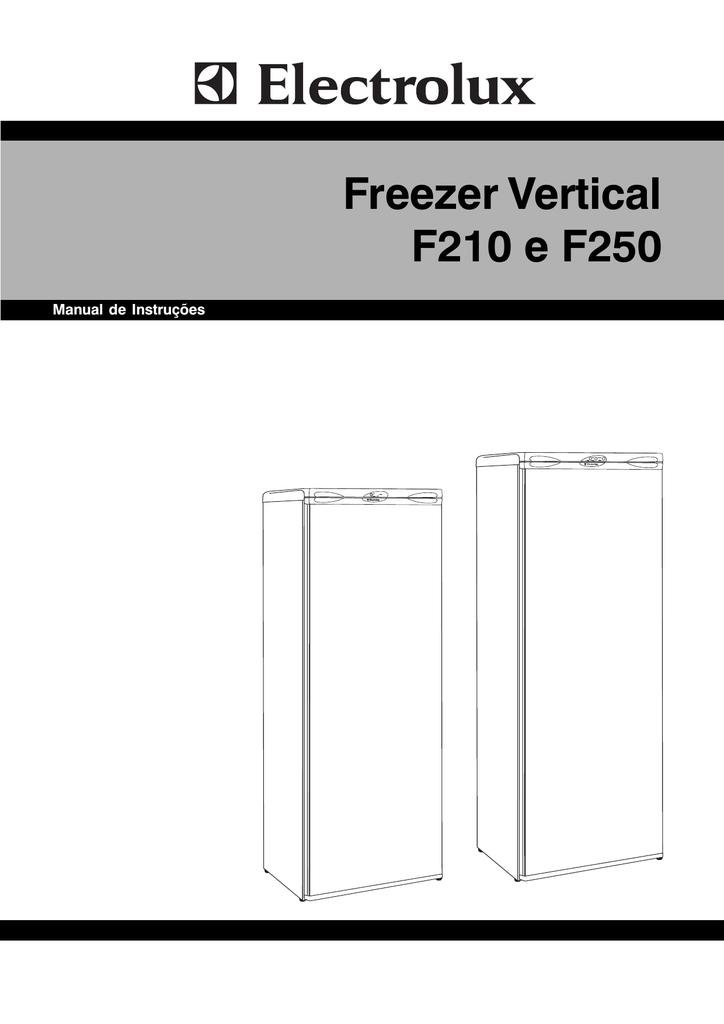 Freezer vertical f210 e f250 manualzz fandeluxe Images
