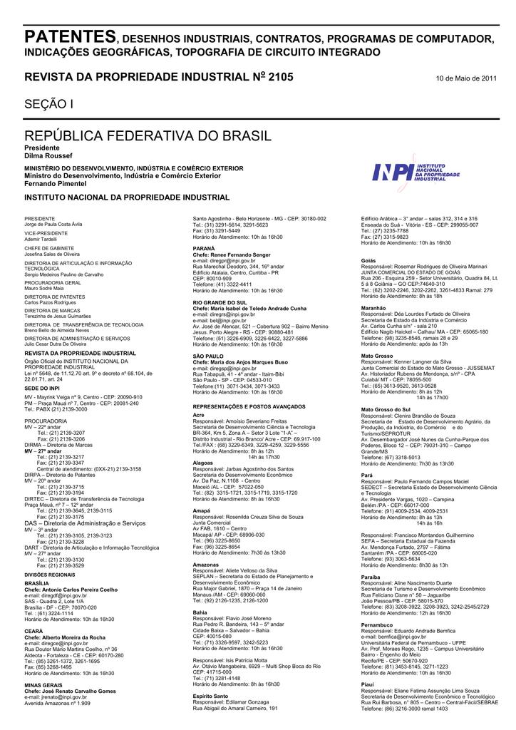 cb4a93a53 DIRETORIA DE PATENTES - Revista da Propriedade Industrial | manualzz.com