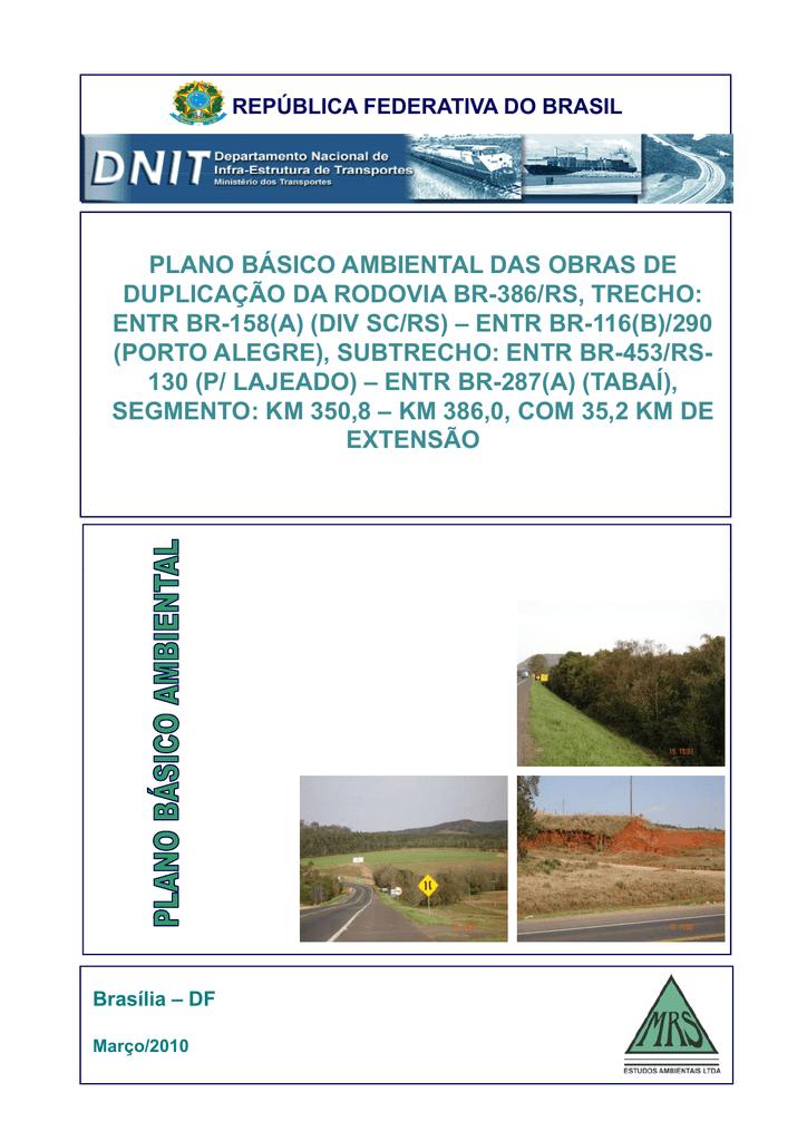4e3fae962 plano básico ambiental das obras de duplicação da rodovia | manualzz.com