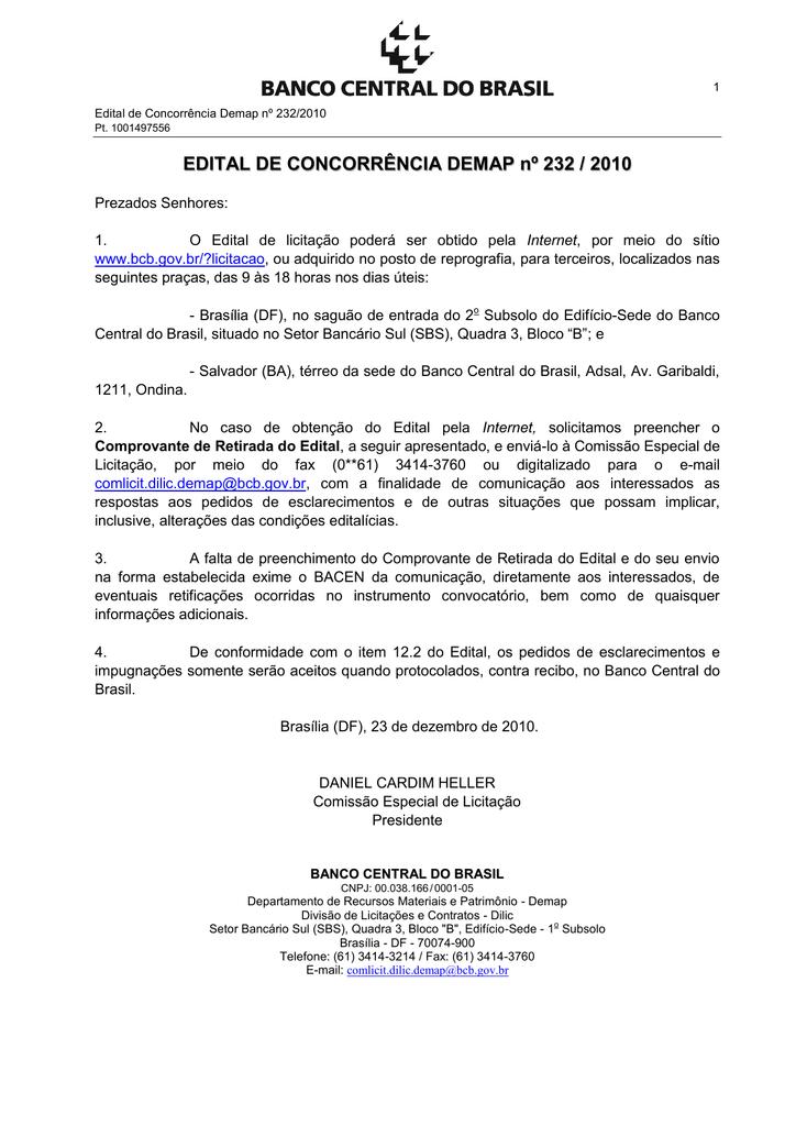 b0e47ad16d Edital completo - Banco Central do Brasil