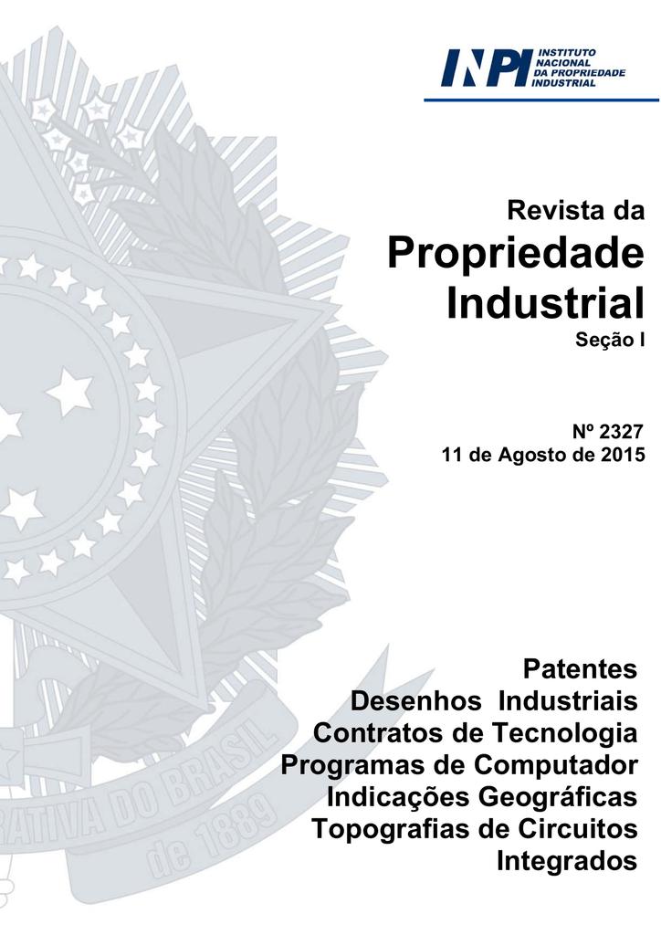 768aba03240 DIRETORIA DE PATENTES - Revista da Propriedade Industrial   manualzz.com