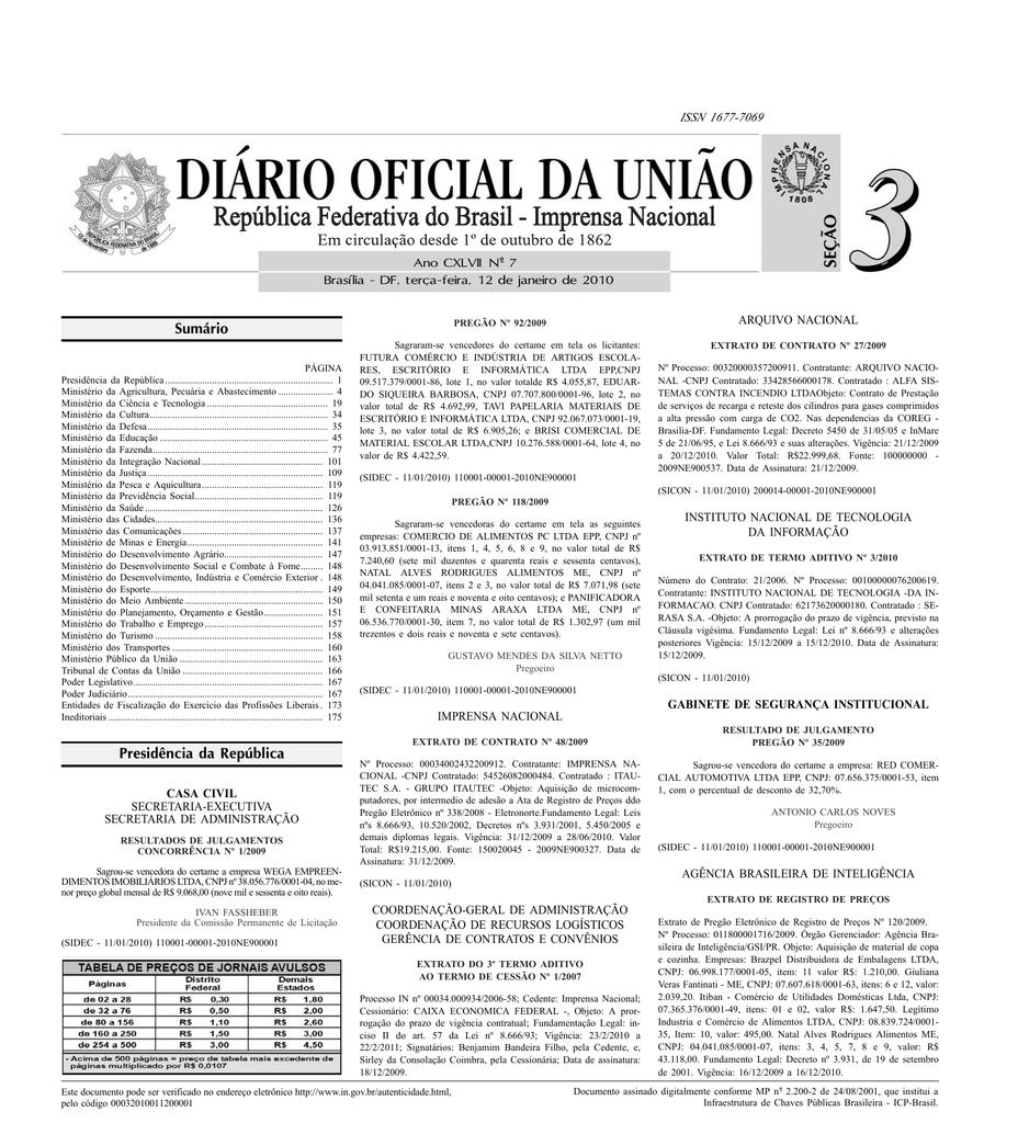 2b3c93f4b Sumário Presidência da República | manualzz.com
