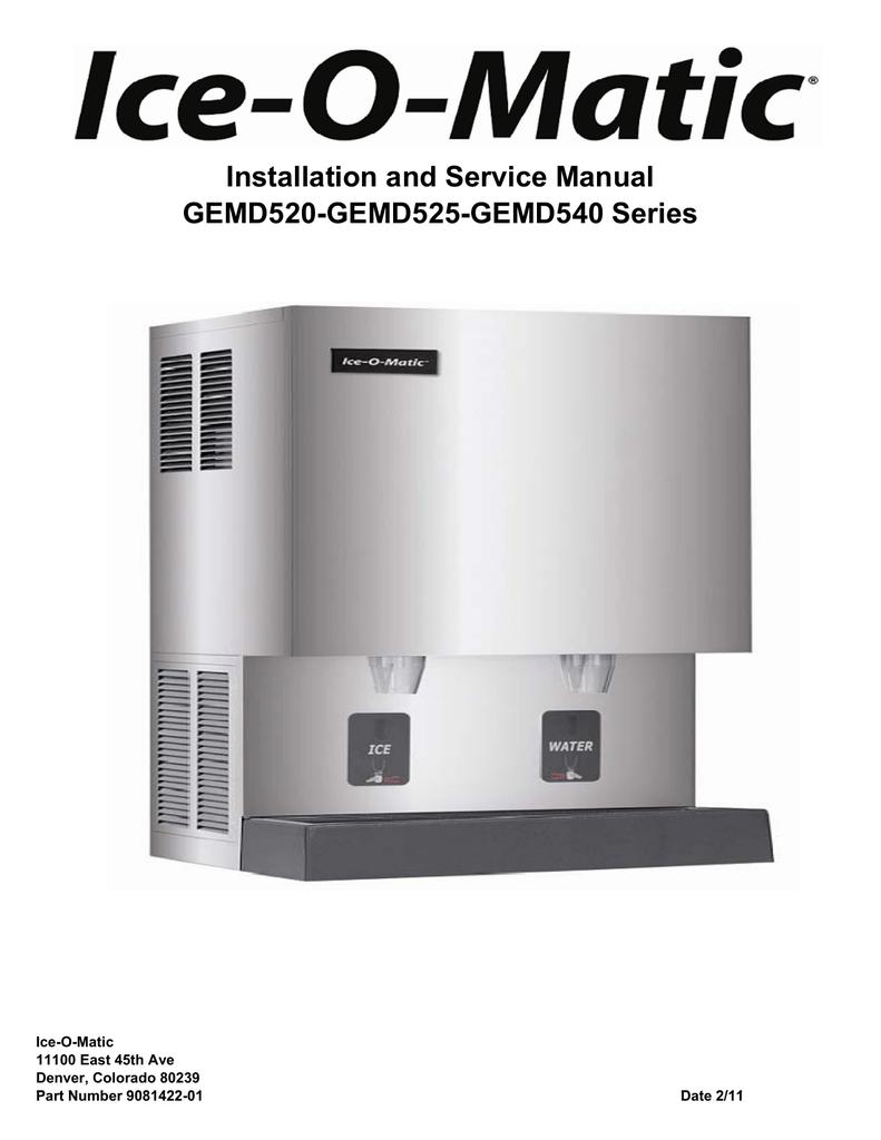 Installation and Service Manual GEMD520-GEMD525 - Ice-O