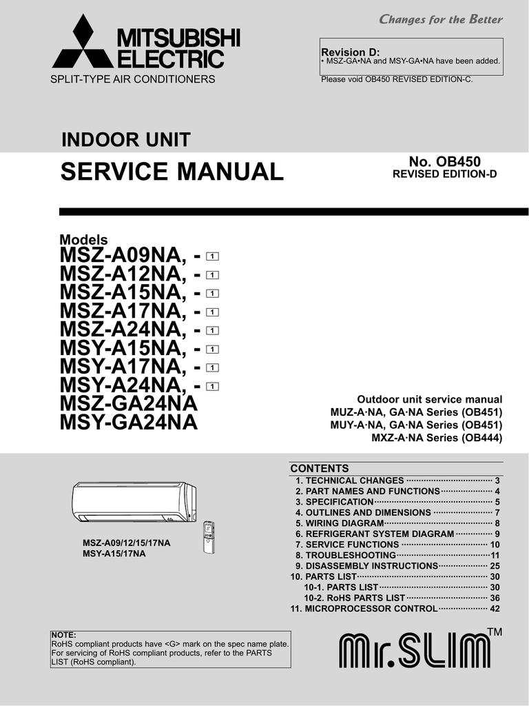 Service manual mitsubishi electric cooling heating buycottarizona Choice Image