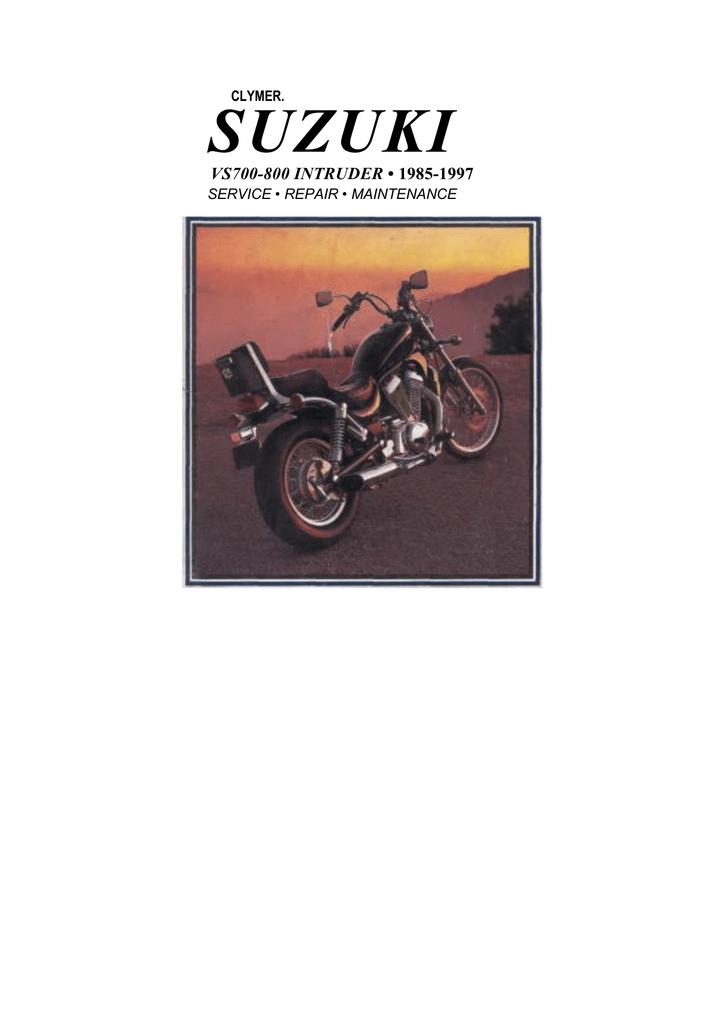 Suzuki VS700-800 Intruder Clymer Service Manual ENG By Mosue