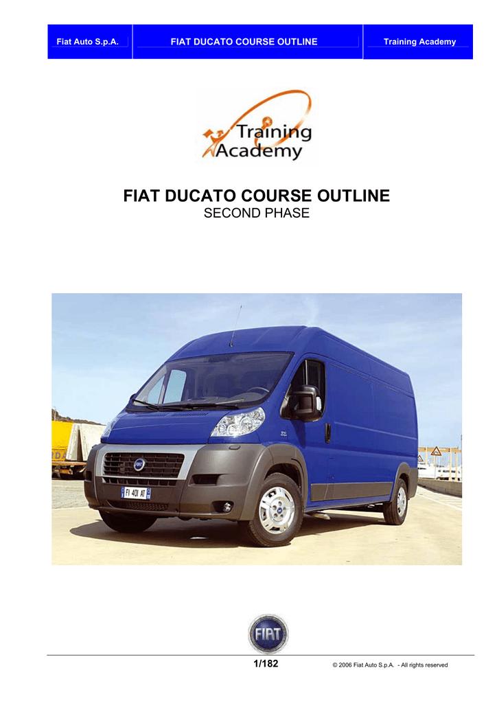 FIAT DUCATO COURSE OUTLINE | manualzz com