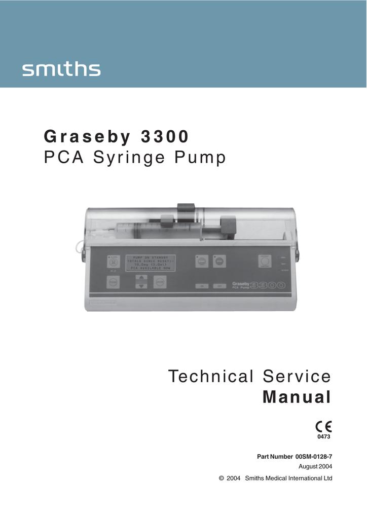 Technical Service Manual Graseby 3300 Pca Syringe Pump Manualzz