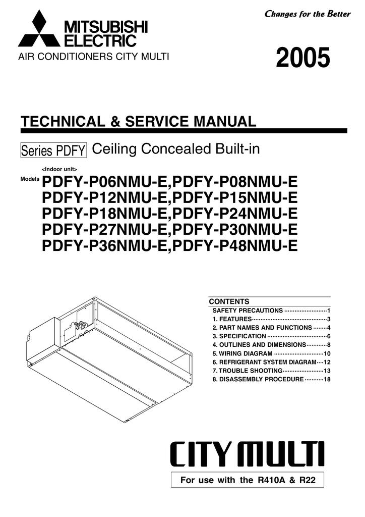 service manual - mitsubishi electric cooling & heating