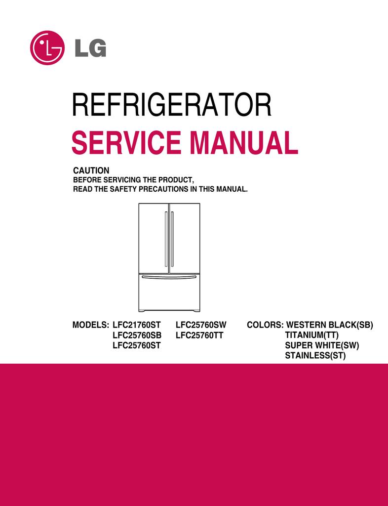 Lg refrigerator schematics wiring diagram detailed.