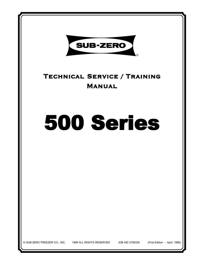 Sub Zero 500 Series Service Manual Manualzz