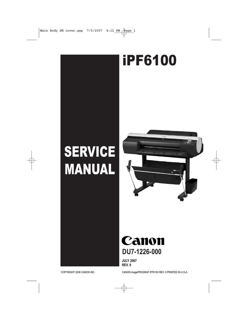 SERVICE MANUAL iPF6100   manualzz com