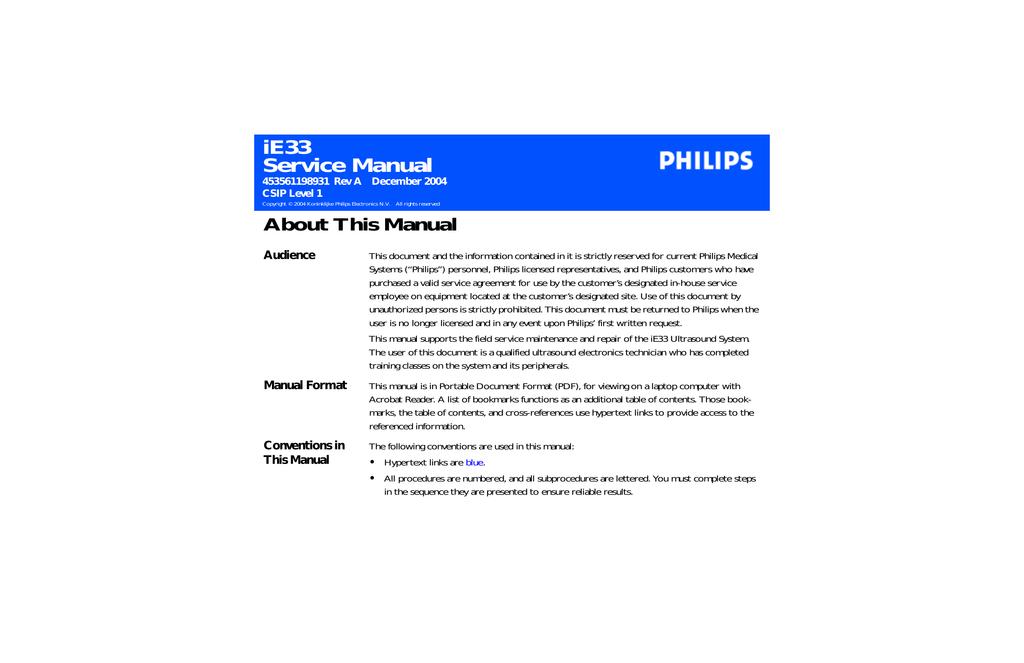 philips ie33 manual pdf