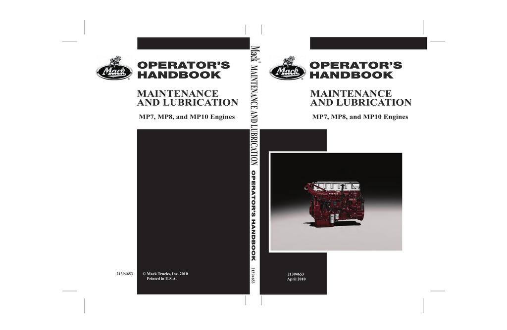 Mack Operators Handbook | manualzz.com on