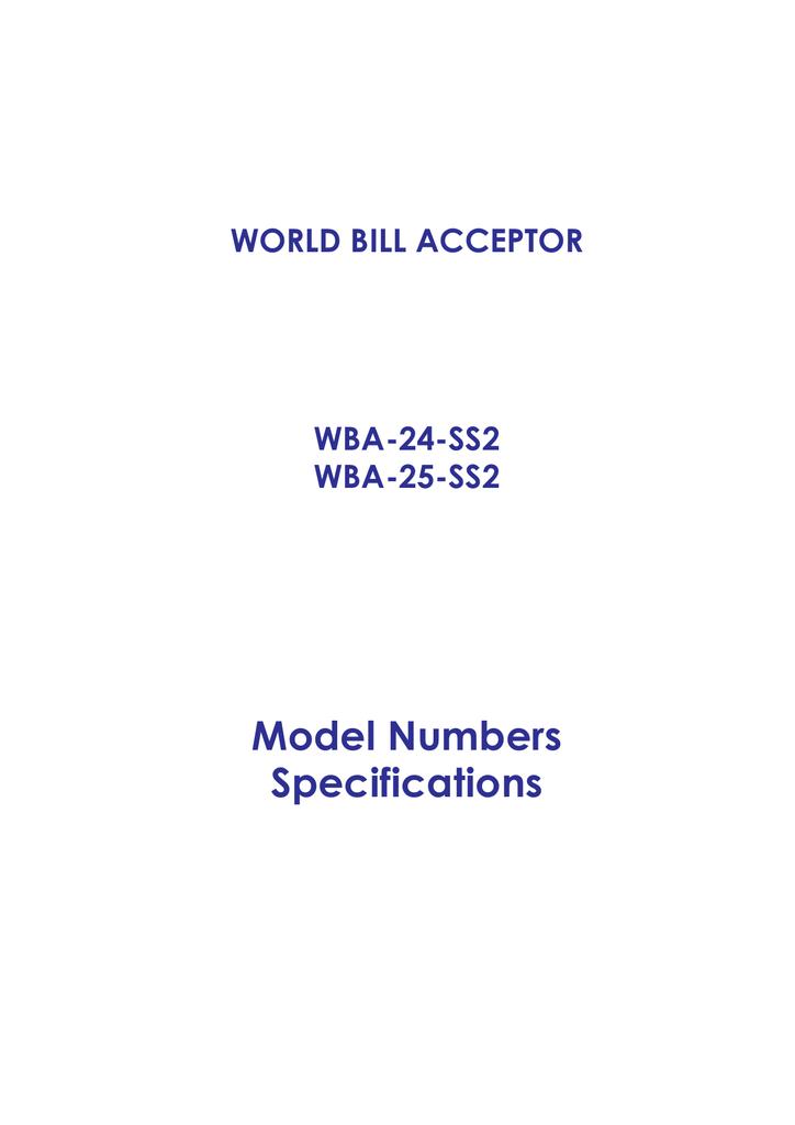 JCM WBA Service Manual | manualzz com