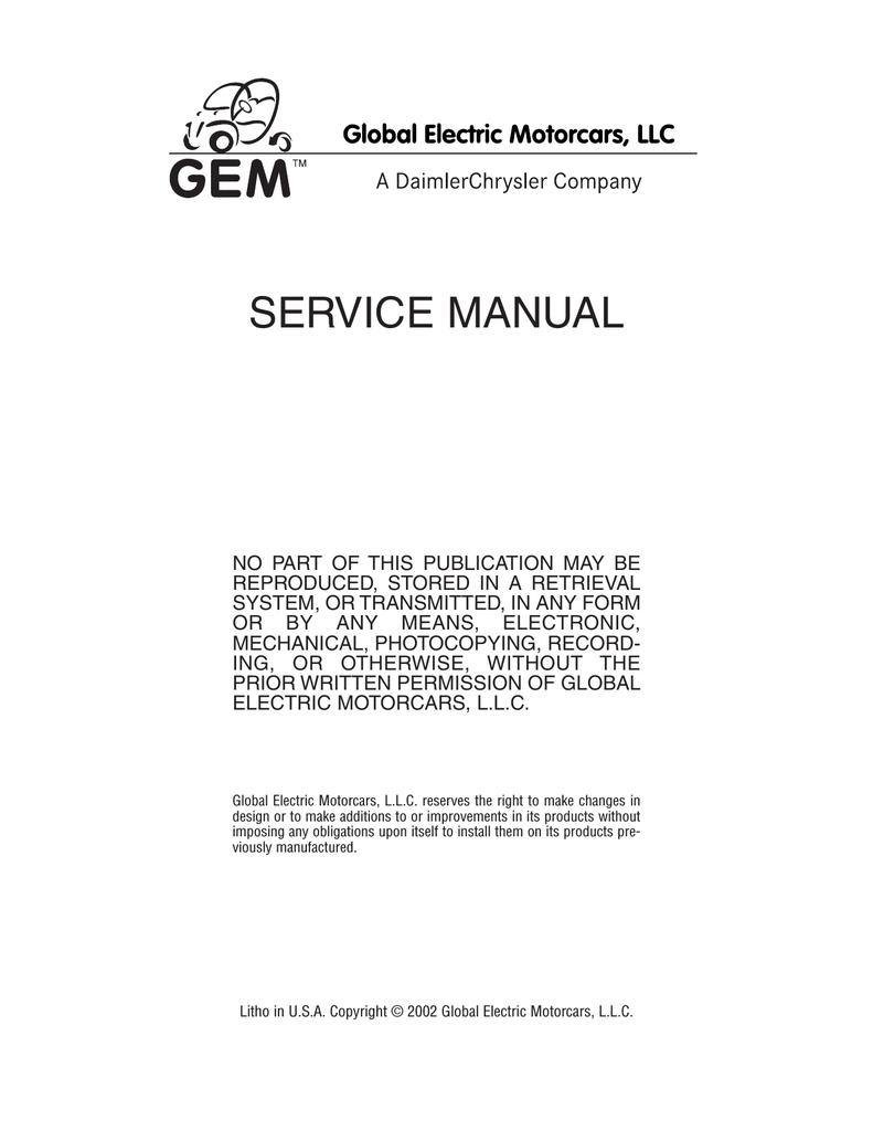 Gem E825 Battery Wiring Diagram