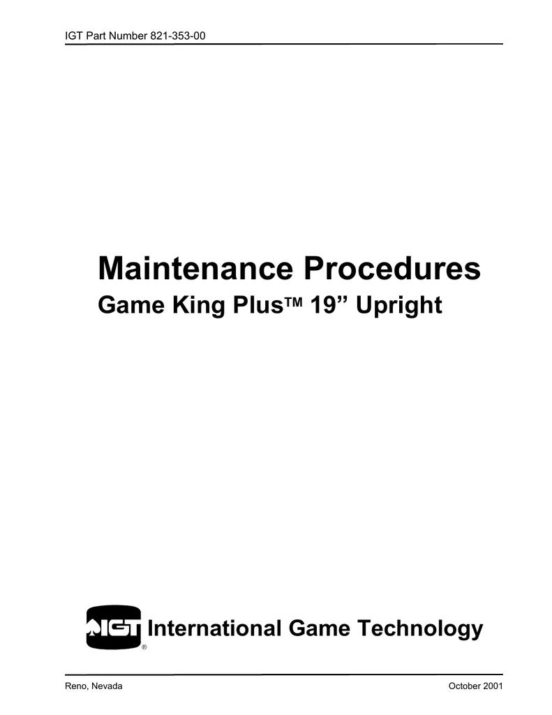 Maintenance Procedures | manualzz com