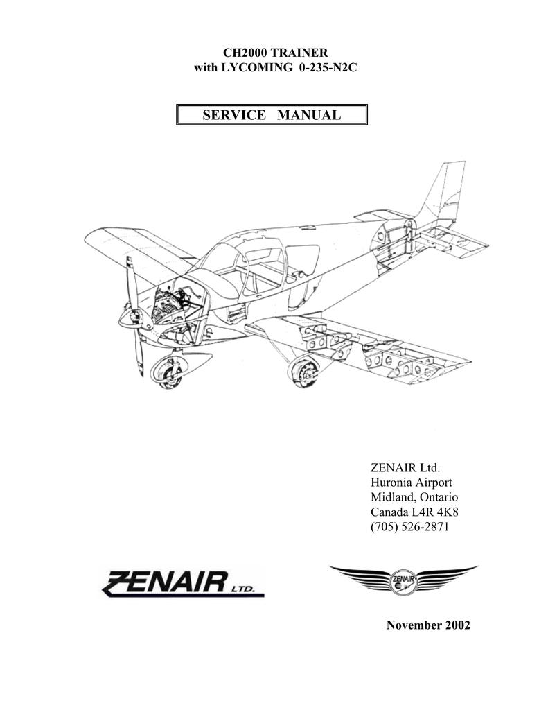 ZENAIR CH 2000 SERVICE MANUAL | manualzz com