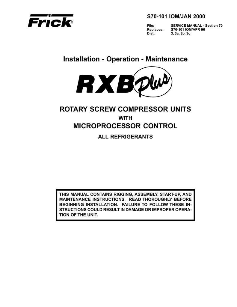 maintenance rotary screw compressor units manualzz com rh manualzz com