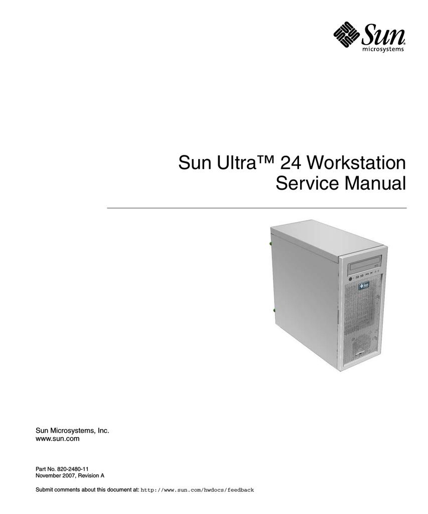 Sun Ultra 24 Workstation Service Manual (November 2007) | manualzz com