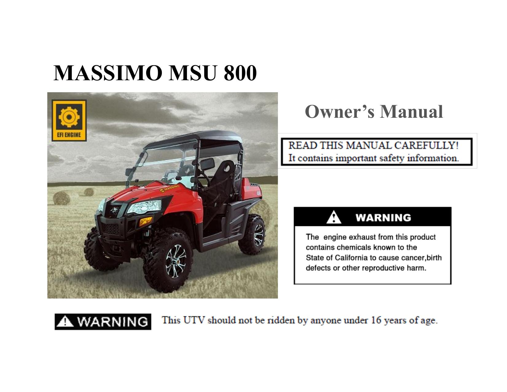 Owner`s Manual - Massimo Motor   manualzz com