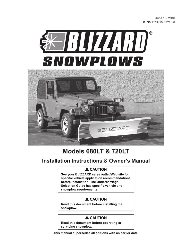 Blizzard Snow Plow Manuals Wiring Diagram Om Ii Straight Blade Snowplow Models Manualzz Com 791x1024
