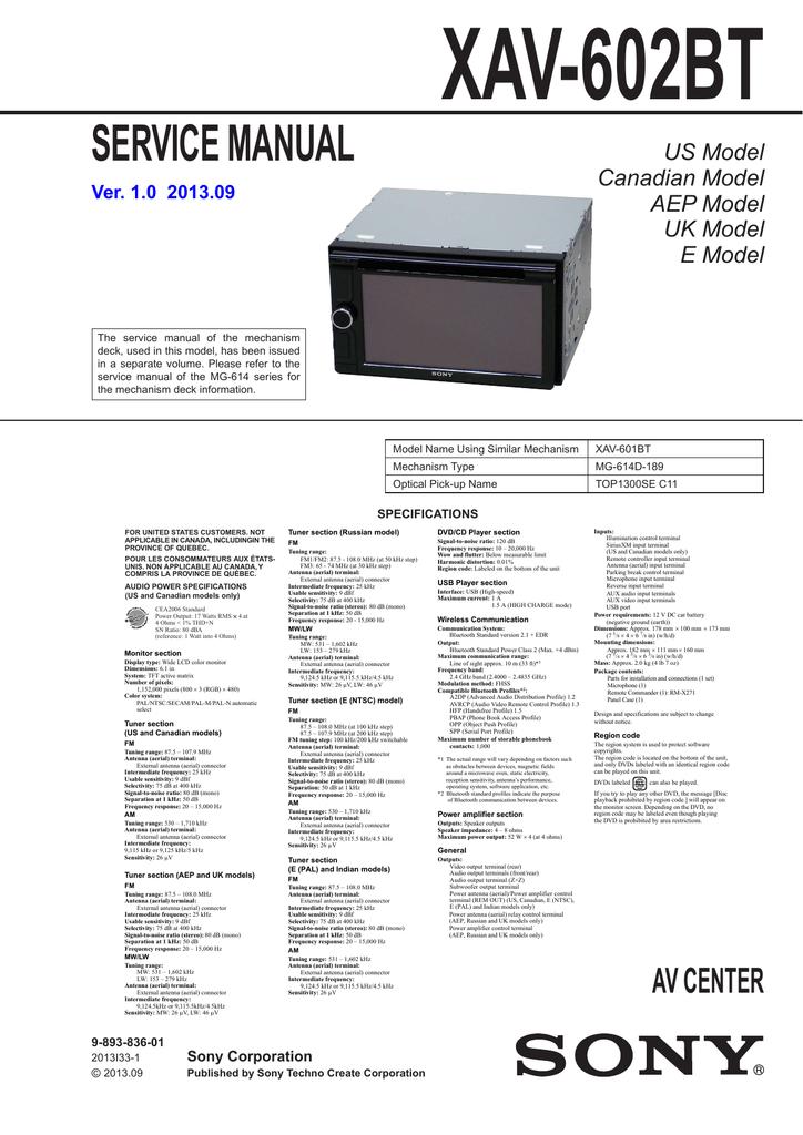 006288810_1 8dd1b4eeaf8792126eb872b10590c0b8 xav602bt service manual sony xav601bt wiring diagram at aneh.co