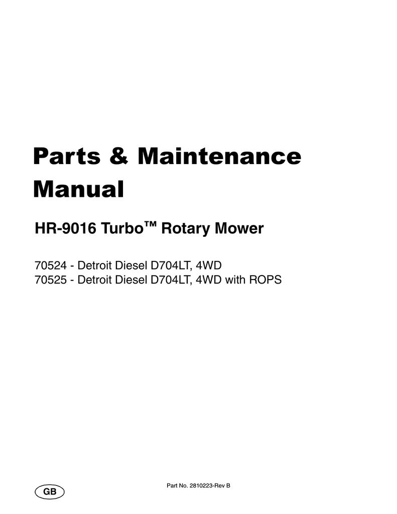 HR-9016 - Jacobsen   manualzz com